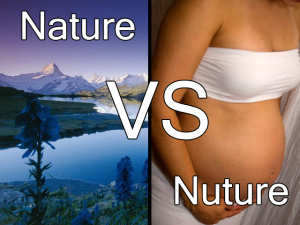 Is it nature or nurture that governs our actions?